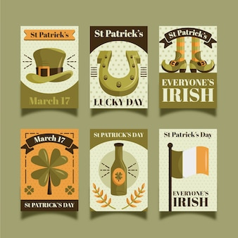 Vintage st. collection d'étiquettes de patrick's day