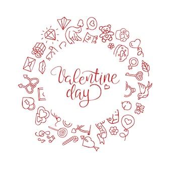 Vintage st en lettres à la main carte de saint valentin - avec calligraphie à la main