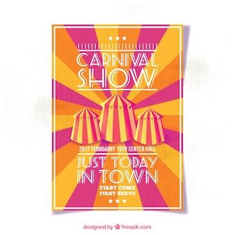 Vintage sunburst cirque brochure