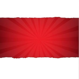 Vintage sunburst rouge foncé