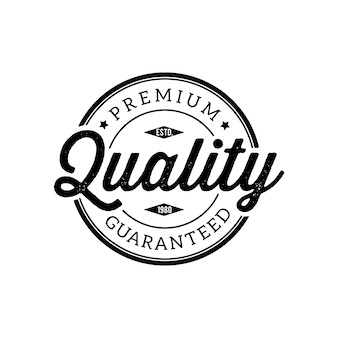 Vintage timbre de qualité premium et éléments