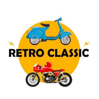 Vintage vespa moto classique rétro vintage old school