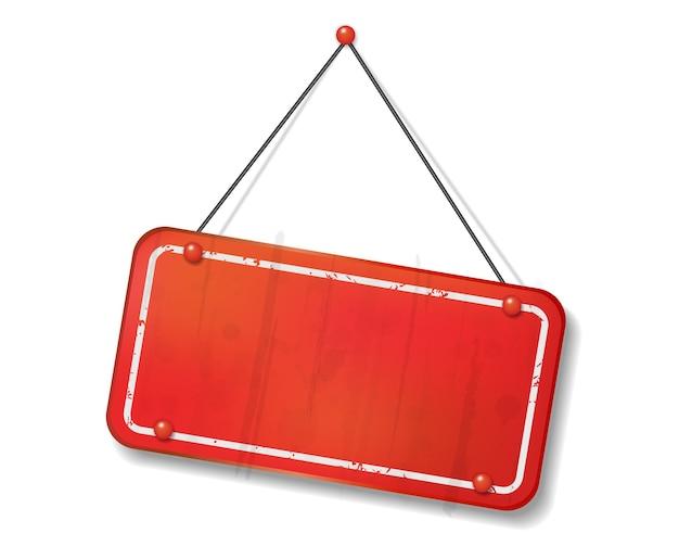 Vintage vieux panneau rouge avec un espace texte