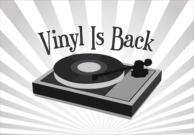 Le vinyle est de retour rétro fond vintage