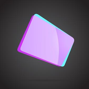 Violet abstrait géométrique dégradé icône colorée illustration vectorielle