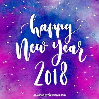 Violet aquarelle pour la nouvelle année