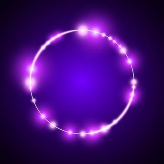 Violet arrondi lumineux