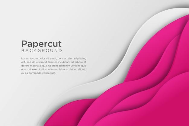 Violet blanc abstrait papier ondulé coupe fond