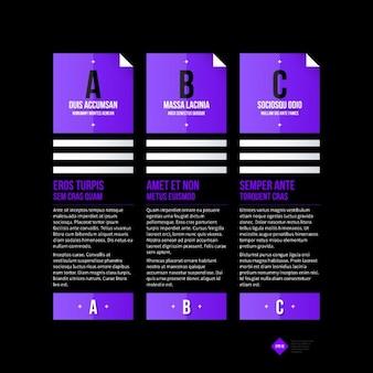 Violet infographies banderole