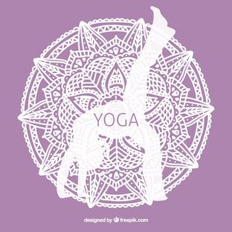 Violet yoga contexte