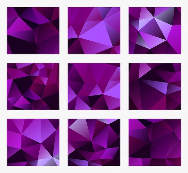 Une violette abstraite