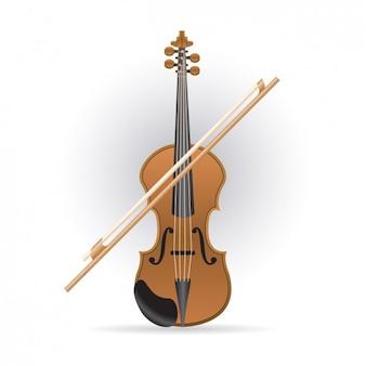 Violon et bow icône