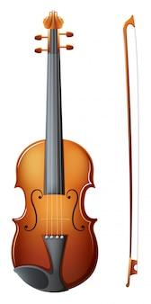 Un violon brun