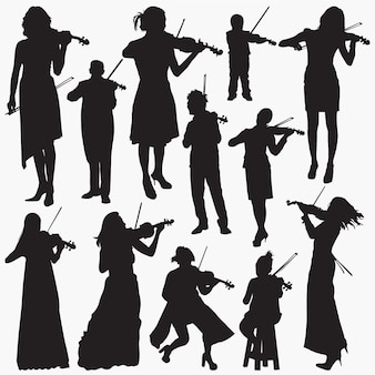 Violoniste silhouettes