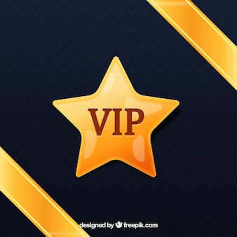Vip background avec étoile d'or