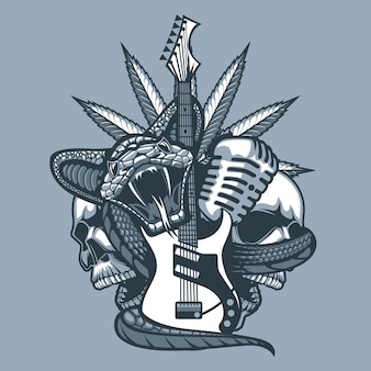 Viper enveloppant la guitare