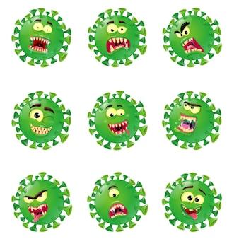 Virus corona de dessin animé de personnage