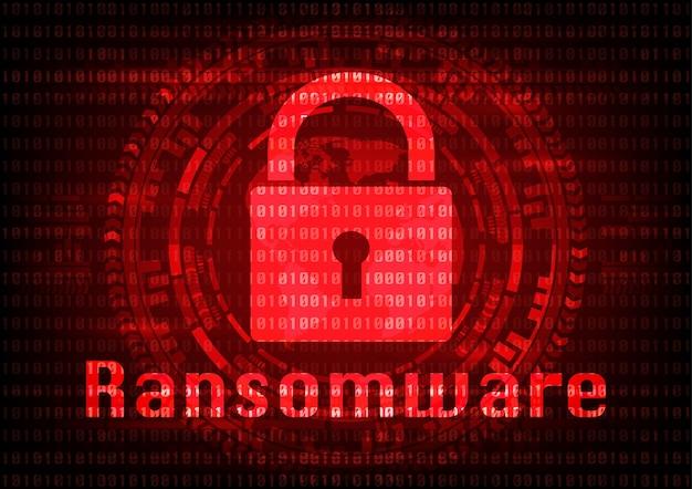 Virus malware ransomware de fond abstrait