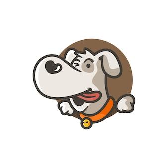 Visage de chien mignon