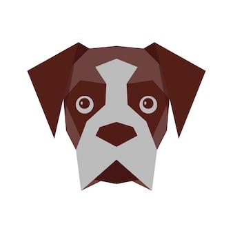 Visage de chien vecteur isolé