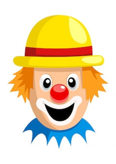Visage de clown dessin animé