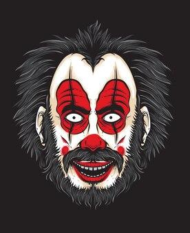 Visage de clown effrayant