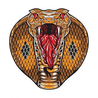 Visage de cobra en colère