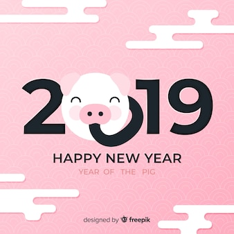 Visage de cochon fond nouvel an chinois
