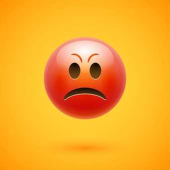 Visage de colère emoji émoticône en colère.