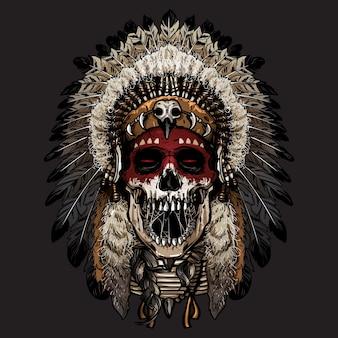 Visage de crâne indien