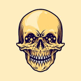Visage de crâne
