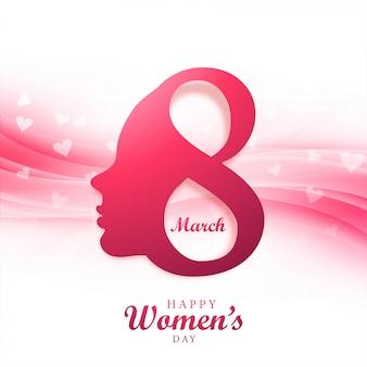 Visage de dame dans le concept de la journée de la femme heureuse