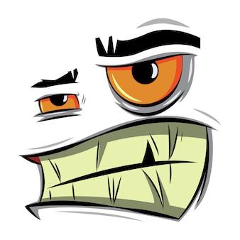 Visage de dessin animé en colère