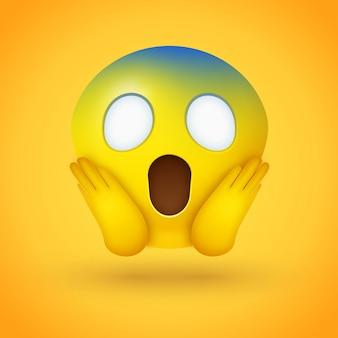 Le visage d'emoji hurlant de peur