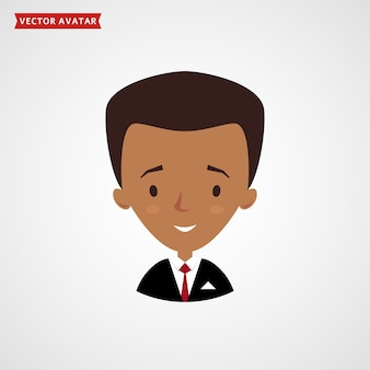 Visage d'homme noir. avatar de l'homme d'affaires.