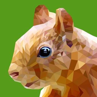 Visage de lapin avec design géométrique