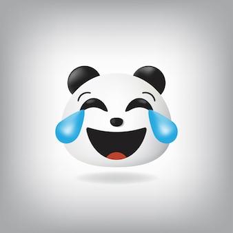 Visage avec des larmes émoticône joy panda