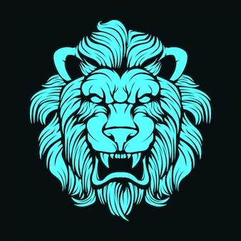 Visage de lion