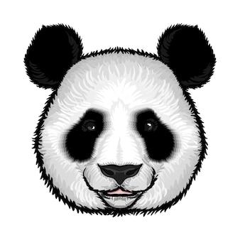 Visage de panda moelleux mignon