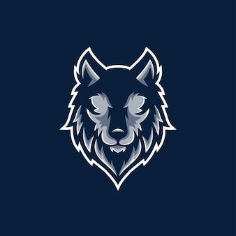 Visage de personnage en colère wolf gaming