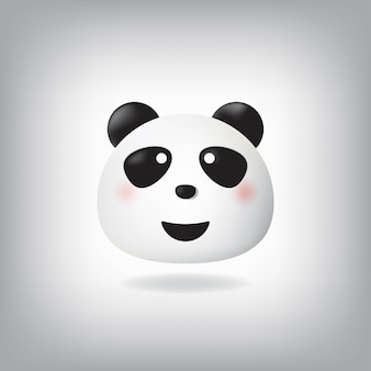 Visage souriant émoticône panda