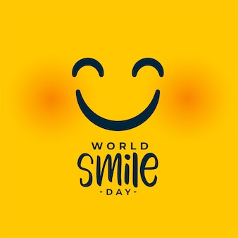Visage souriant pour l'événement de la journée mondiale du sourire