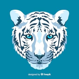 Visage de tigre élégant