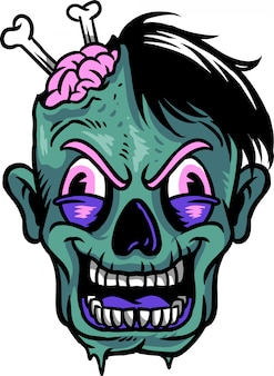 Visage de zombie