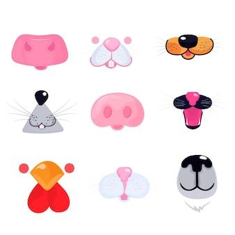 Visages d'animaux pour la conception de masques médicaux pour enfants pendant la quarantaine covid-19.