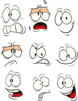 Visages de dessin animé