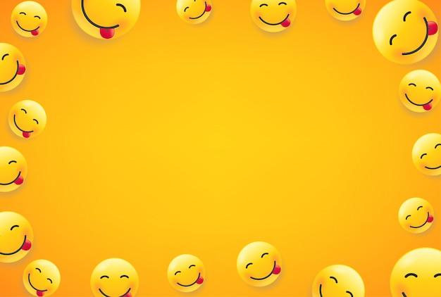 Visages souriants. cadre avec copie espace