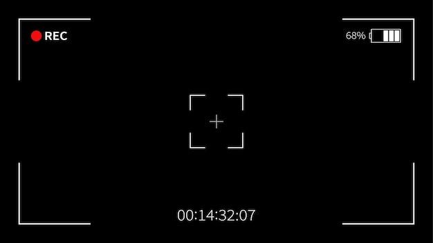 Viseur de l'appareil photo. enregistrement. caméra à écran de mise au point.