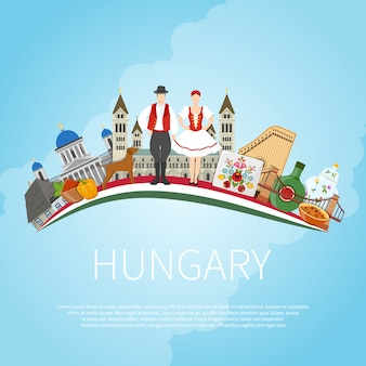 Visit hungary cloud concept