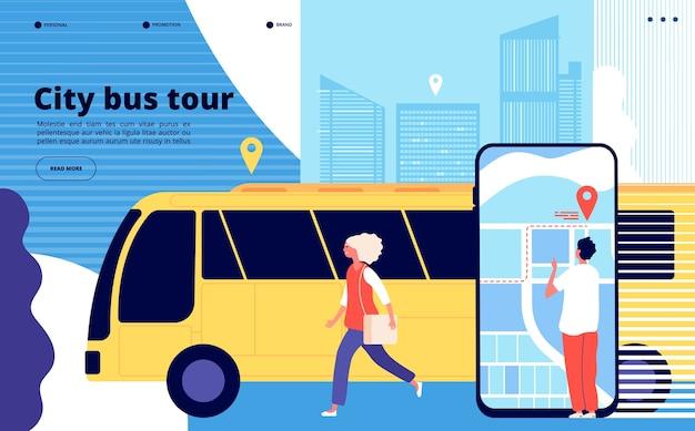 Visite en bus de la ville
